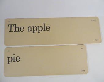 Retro The Apple Pie Flash Cards - Vintage Vocabulary Word Flash Cards