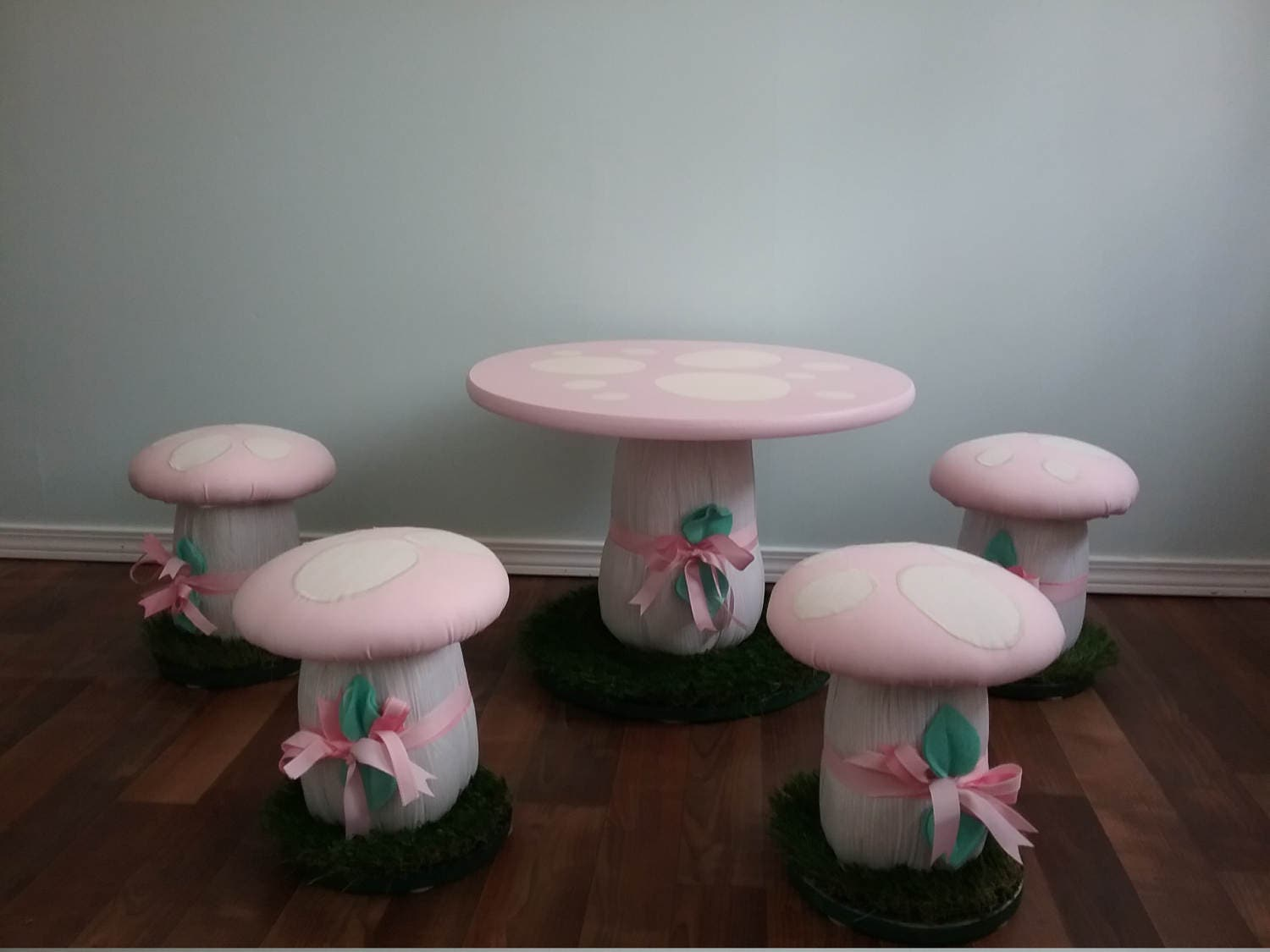 Details. Mushroom Woodland Theme Childrenu0027s Stools and Table. & Mushroom Table Stools Chairs Handcrafted Set of Stools with islam-shia.org