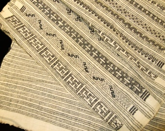 Vintage intricately and delicately woven silk (I think) scarf from the minority people of China.  Excellent condition, amazing work. 12x40in