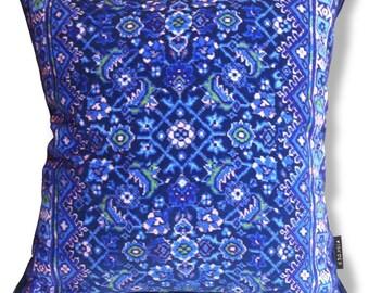 Blue velvet cushion cover Sofa pillow BLUE GRAPE