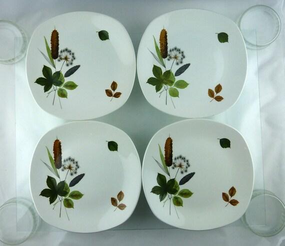 Four beautiful Midwinter Riverside dinner plates - vintage mid century style