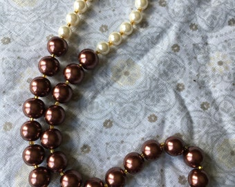 Chocolate Ivory Pearl Necklace