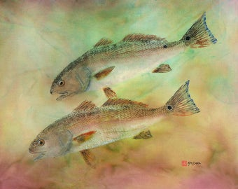 Gyotaku  Print of Redfish