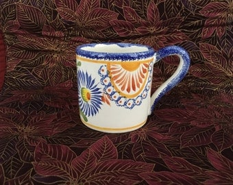"Quimper Faience France, Quimper Coffee Mug, HB Henriot Quimper France, Pottery Stoneware, Hand Painted, 3"" Mug, Small Mug"