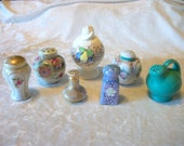 Vintage Salt and Pepper Shakers - Mixed Lot of 7 Singles - Japan Floral Boho