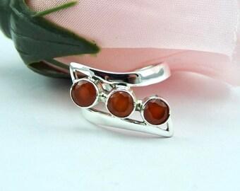 Carnelian ring. Sterling silver. Ring. Gemstone rings. Carnelian. Jewelry. ring. Modern. Designer. Natural gemstone. Trendy. Gemstone ring