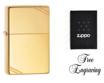 Personalized Zippo Lighter Vintage Brass Hand Engraved Custom