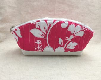 Quilted Petal Pouch - Quilted Zip Pouch - Cosmetic Bag - Pencil Bag - Makeup Bag