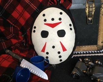 Friday the 13th, Jason Voorhees , Horror Movie, Geeky felt stuffed plush toy pillow