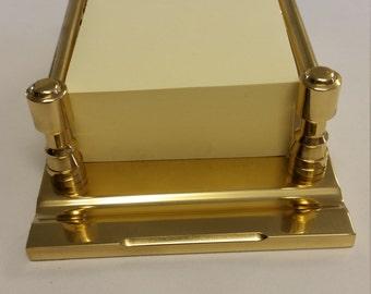 Solid Brass 3x3 Cube Sticky Note Holder