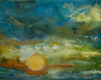Ciel Mer III- Abstract Paintings of the Earth and the Cosmos-Signed Limited Edition Archival Giclée