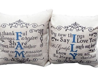 FAMILY - Pillow Covers, Set of 2