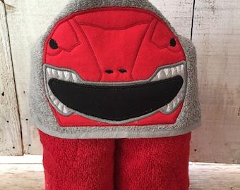 Red Ninja Fighter Hooded Towel