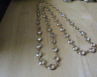 Vintage Swarovski Crystal Bezel Necklace