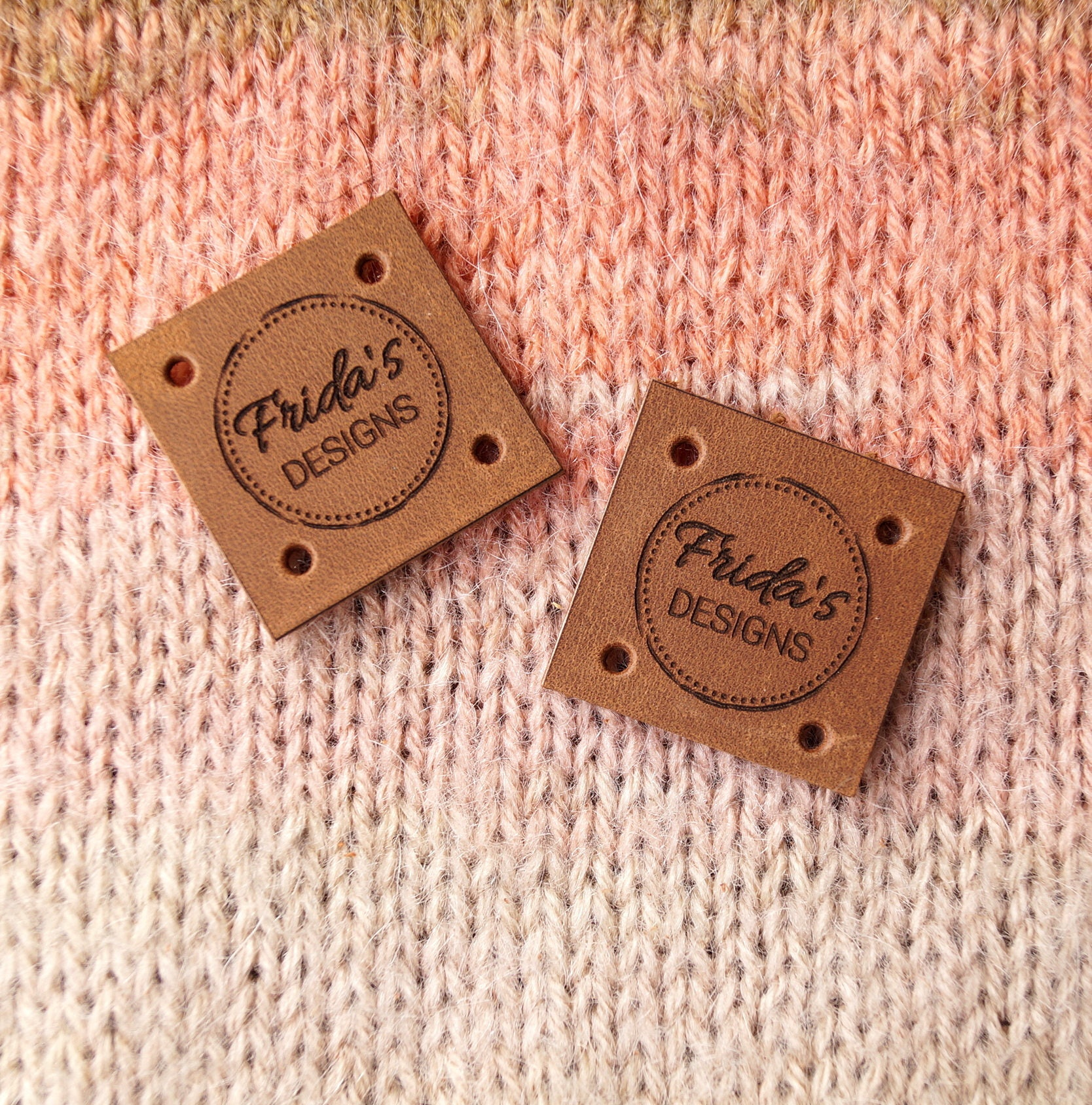 Knitting Labels Canada : Custom clothing labels leather tags