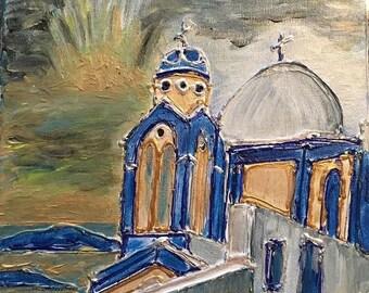 Church View on Santorini Island, Greece