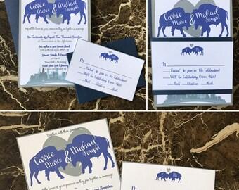 Buffalo Cityscape Wedding Invitation