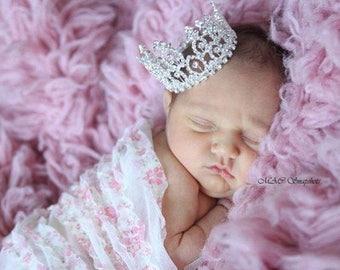 Rhinestone Crown Maternity Newborn Baby Girl Baby Boy Rhinestone Tiara Crown Photo Prop Maternity Photo Prop Newborn Photo prop Half Birthda