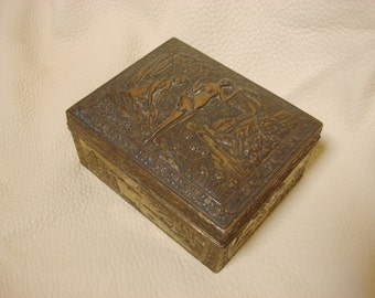Vintage Japanese Metal Trinket Box 50's  #60