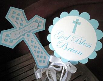 Baptism Centerpiece, Christening Centerpiece, Baptism Decorations - Set of 2