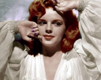 8x10 Judy Garland Recolored Photograph
