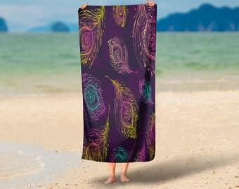 Boho Chic Feathers   Beach Towel