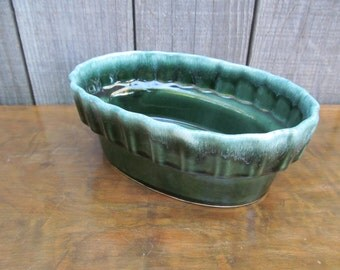 Hull Pottery Green Dish Planter