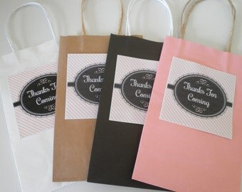 Set Of 6 Dainty Sweet Chantilly - Thank You For Coming - Favor Bag & Label Sets - Create Beautiful Guest Favors For Your Event