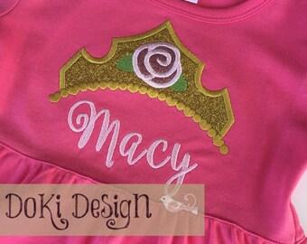Lavender or Hot Pink Monogrammed Dress