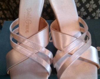 Glamorous Daniel Green Champagne Fantasy Slippers Size 9AA