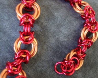 Byzantine Flowers Chainmail Bracelet