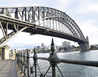Digital Image Sydney Harbour  Bridge Photography The Rocks Sydney Photo