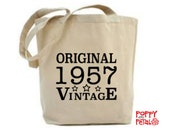 60th Birthday Gift, 60th Birthday Tote Bag, 1957 Gift, Gift for 60th Grandma, 60th Birthday Gift For Mum, 1957 60th Birthday Present Tote