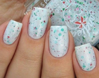 Stripey Candies Holiday Polish: Hand Mixed 5 Free Indie Polish