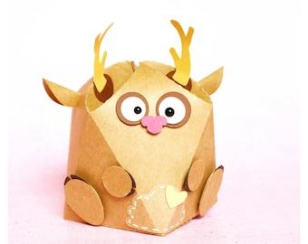 "plotterdatei - geometrical ""deer"" gift box"