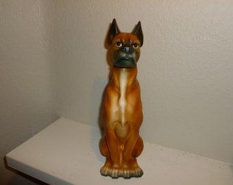 Vintage Ceramic Boxer Dog