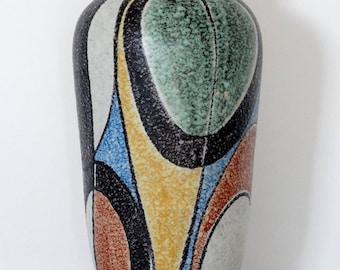 Ruscha Mid Century XL Milano Handpainted West German Vase