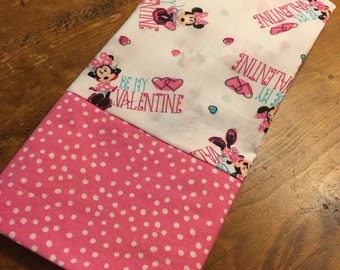 Minnie Mouse Valentine Pillowcase
