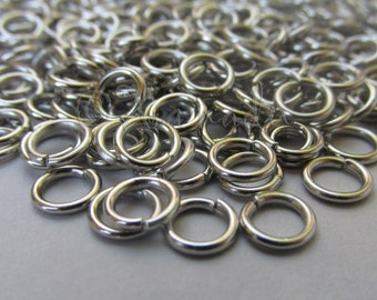 Jump Rings 6mm - 100/200/500 Stainless Steel 18 Gauge Open Jump Rings F7923