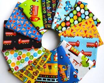 Be My Hero Fat Quarter Bundle - First Blush Studio - Henry Glass - 13 Fat Quarters - 100% Cotton - firetruck, ambulance, police car, rescue