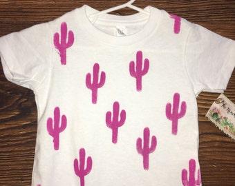 Pink cactus toddler tee