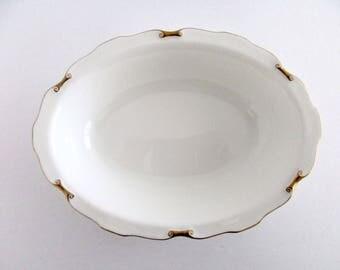 Royal Crown Derby England Bone China Regency Oval Serving Bowl, Vintage Tableware