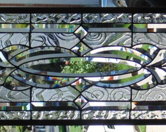 """Stained Glass Window Hanging 38 1/4 X 13 3/4"""""""