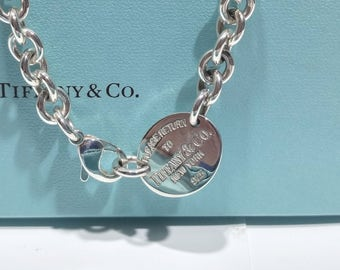 Mom birthday necklace, Tiffany & Co, Please return to Tiffany, Choker for wife, Silver necklace for me, Her choker gift, Wife birthday idea
