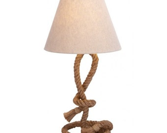 Nautical Lamp Sailor Knot Rope Table  Lamp Decor Marine Bedside Accent Rope Lamp