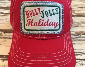 Holly Jolly Holiday Christmas Hat