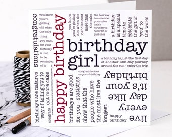 Birthday Card; Birthday Card For Her; Birthday Card For Women; 40th Card For Female; GC325