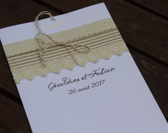 Invitations sleeve range: country chic wedding 2 |
