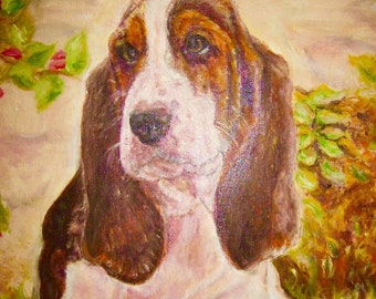 "Birthday Card Beagle 7""x5"" Blank inside for your own message"