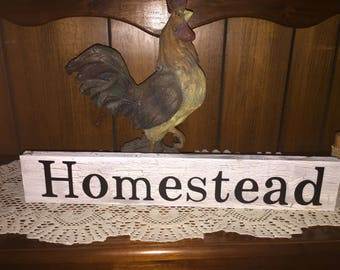 homestead sign - farmhouse decor - family signs - dinning room decor - kitchen signs - farm signs - wood signs